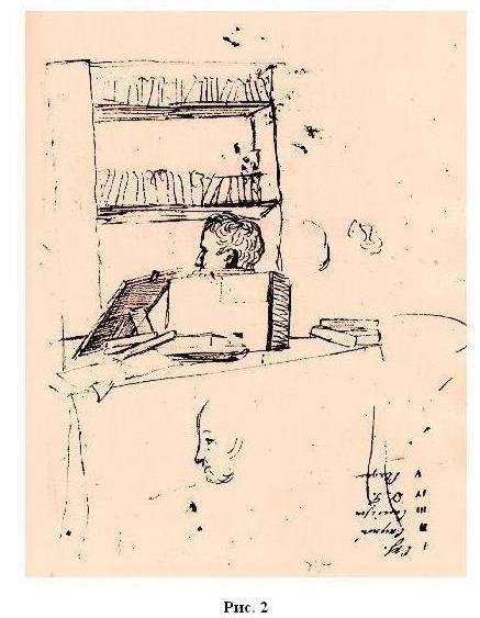 рисунок Пушкина Александра Сергеевича